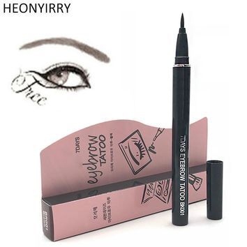 Eyebrow Enhancers Women Waterproof 7 Days Tattoo Pen Liner Makeup