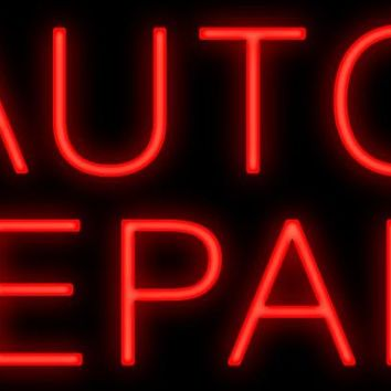 "Auto Repair Real Glass Tube Car Garage neon sign Custom Light Handcrafted Decorative signs Shop Store Business Signboard 17""x14"""