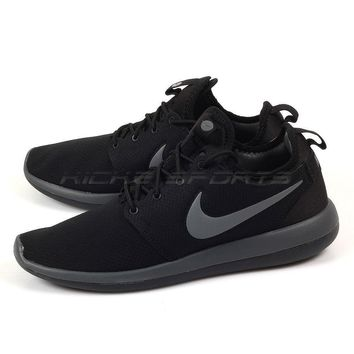Nike Roshe Two SE Lifestyle Running Shoes Black/Dark Grey-Anthracite 859543-001