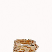 FOREVER 21 Hammered Arrow Ring Set