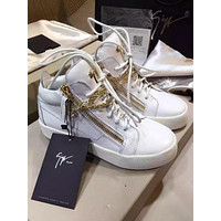 Giuseppe Zanotti Women's Leather Fashion Mid Top Sneakers Shoes