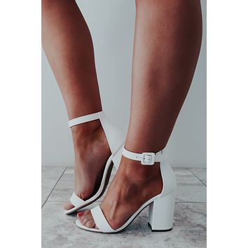 Be The One Heels: White