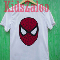 spiderman For T-shirt Unisex Adults size S-2XL Black and White