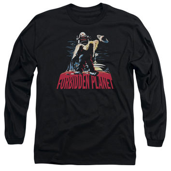 FORBIDDEN PLANET/ROBBY AND WOMAN-L/S ADULT 18/1-BLACK