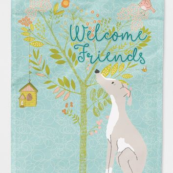 Welcome Friends Italian Greyhound Flag Canvas House Size BB7636CHF