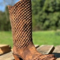 Camel Netting Overlay & Studs Boot by Corral
