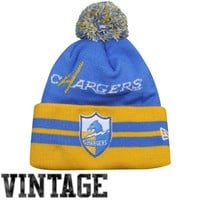 New Era San Diego Chargers Wide Point Legacy Cuffed Knit Hat - Light Blue/Gold