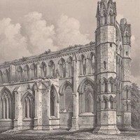 Antique Print Elgin Cathedral Scotland (A64) by Grandpa's Market