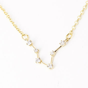 Pisces Constellation Zodiac Necklace (02/19-03/20) - As seen in Real Simple, People Magazines & more!