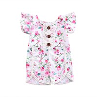 Lace Floral Romper baby clothing Newborn Infant Baby Girl Romper Outfits Sunsuit Clothes 0-4Y