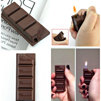 Funny Creative Chocolate Candy Bar Shaped Butane Lighter