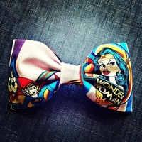 Wonder Woman fabric hair bow