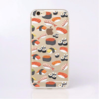 Fun Sushi Soft Case for iPhone 6 6s, 6 Plus