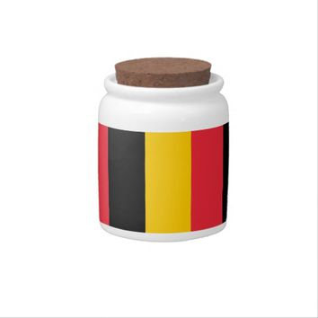 Belgian Flag Candy Jar