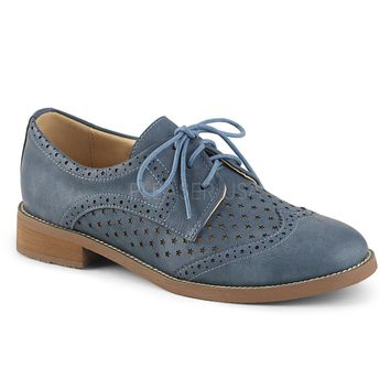 Pinup Couture Hepburn Blue Wingtip Oxfords