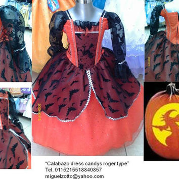 Pumpkin fairy butterfly Witch Disney Princess party pageant bridesmaid medieval graduation orange dress quinceanera XV  Halloween costume
