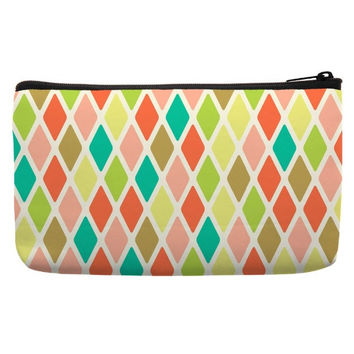 Cosmetic Bags For Sale in argyle pattern in multi color for cosmetic travel bag Cute Makeup Bags