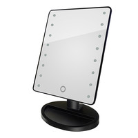 Cosmetic Makeup Mirror 16 LED Light Rotatable Touch Dimmable Brightness Adjustable Beauty Square Vanity Desk Stand Mirror