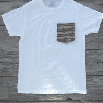 Aztec/ Tribal Pocket Tee