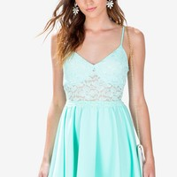 Lace Cami Flare Dress