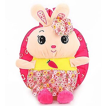 Toddler Backpack class 2017 Fashion New Baby Kids Child Shoulder School Bag Cute Lovely Cartoon Rabbit Toddlers Bags Backpack Gift Soft Canvas New AT_50_3