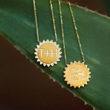 """""""You Are My Sunshine"""" Large Necklace SOLID"""