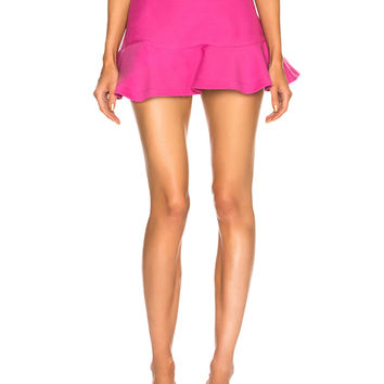 Valentino Flared Hem Mini Skirt in Pink Orchid | FWRD