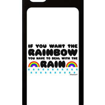If You Want The Rainbow Quote iPhone 5 / 5S Grip Case  by TooLoud