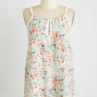 ModCloth Pastel Mid-length Tank top (2 thick straps) Savvy Statistician Top