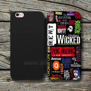 Broadway Wallet iPhone cases Musical Collage Samsung Wallet Leather Phone Cases
