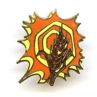 Vintage Wheat Enamel Tie Tack Pin Orange Brown Fall