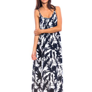 Mikoh Swimwear Biarritz Dress in Polynesian Palm