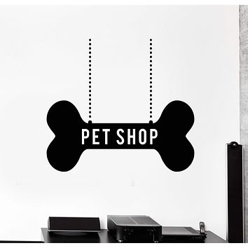 Vinyl Wall Decal Pet Shop Decor Dog Bone Art Stickers Murals Unique Gift (ig4708)