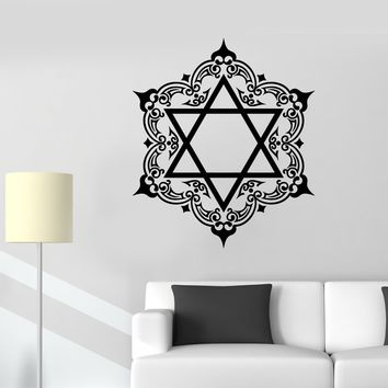 Vinyl Wall Decal Star Of David Pentagram Protective Amulet Symbol Stickers (2362ig)