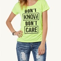 Neon Don't Care Tee