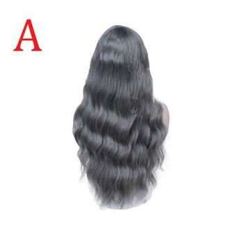Women Natural Long Curly Hair Heat Resistant Wig