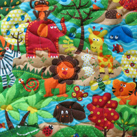 Toddler Bed Quilt Handmade Baby Quilt Toddler Blanket Jungle Nursery