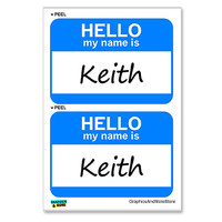 Keith Hello My Name Is - Sheet of 2 Stickers