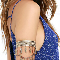 Feather Step Gold Arm Cuff