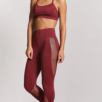 Active Mesh-Panel Capri Leggings