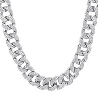 """New Iced Out 18mm Heavy Miami Cuban Links 18-36"""" Necklace"""