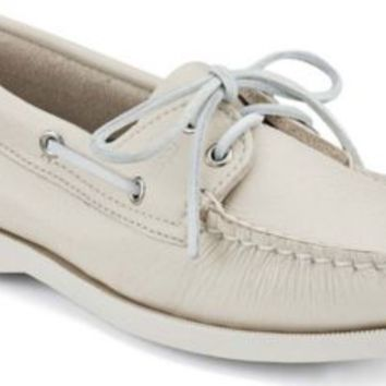 Sperry Top-Sider Authentic Original 2-Eye Boat Shoe Ice, Size 5W  Women's Shoes