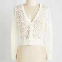 Short Length Long Sleeve Cropped Cream of the Cropped Cardigan