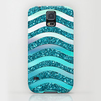 iPhone 6 ihone 6 Plus iPhone 5 iPhone 5s iPhone 5c iPhone 4 iPhone 4s Samsung Galaxy S5 Galaxy S4 Phone Case. Turquoise Glitter Phone Case