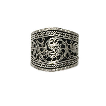 Filigree Adjustable yoga healing ring