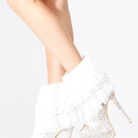 Alba White Velvet Embellished Fringe Boots @ Cicihot Boots Catalog:women's winter boots,leather thigh high boots,black platform knee high boots,over the knee boots,Go Go boots,cowgirl boots,gladiator boots,womens dress boots,skirt boots.