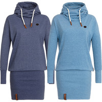 Bodycon Hoodies Pullover Tunic Dress Plus Size