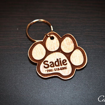 Personalized Pet Paw Engraved ID Tag for Pets