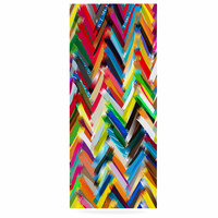 "Frederic Levy-Hadida ""Chevrons"" Rainbow Luxe Rectangle Panel"
