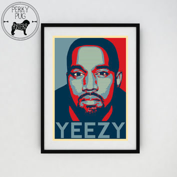 KANYE WEST - 2020 President / Presidency Election - Yeezus - Yeezy - Presidential Poster Art